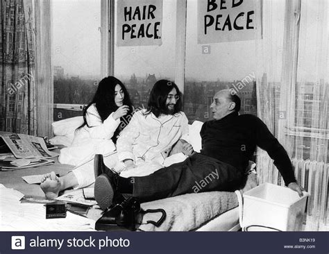 bed peace download john lennon of the beatles in bed with yoko ono at the