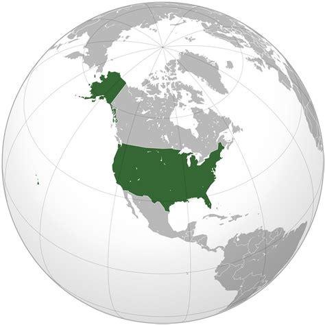world map with usa highlighted fronteras de los estados unidos la