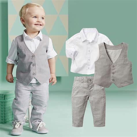 2015 boy fashoin 2015 boys clothing sets autumn spring shirt vest pants