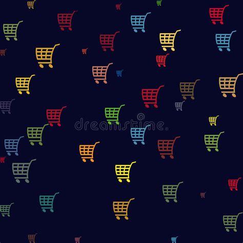 seamless pattern with shopping icons shopping basket icons stock illustration image 39729075