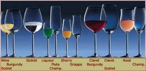 tipologie di bicchieri tipi di bicchieri