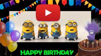 Happy birthday minions video dis