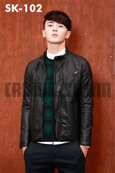 jual jaket kulit pria elegan korean style modern jaket