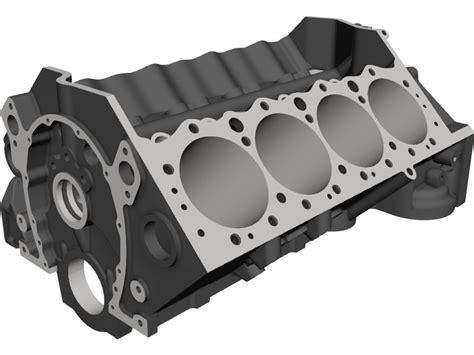 small chevy model small block chevrolet engine block 3d cad model 3d cad