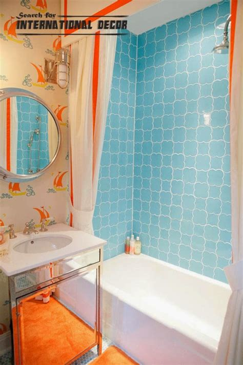 orange and turquoise bathroom 18 cool kids bathroom decorating ideas