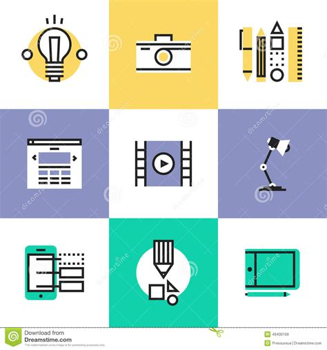 icon design creating pictograms with purpose web and graphic design pictogram icons set stock vector