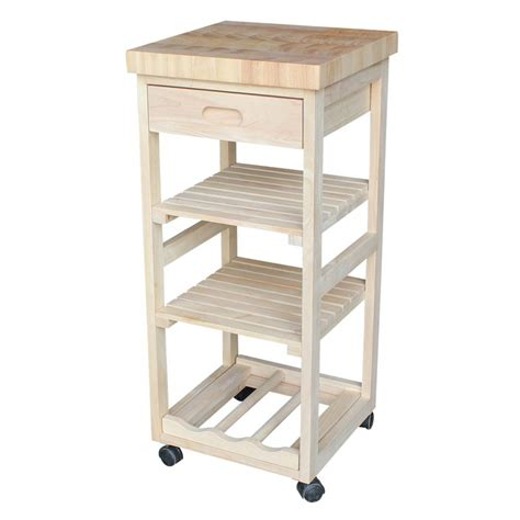 unfinished kitchen carts and islands cart bathroom international concepts unfinished kitchen cart with drawer