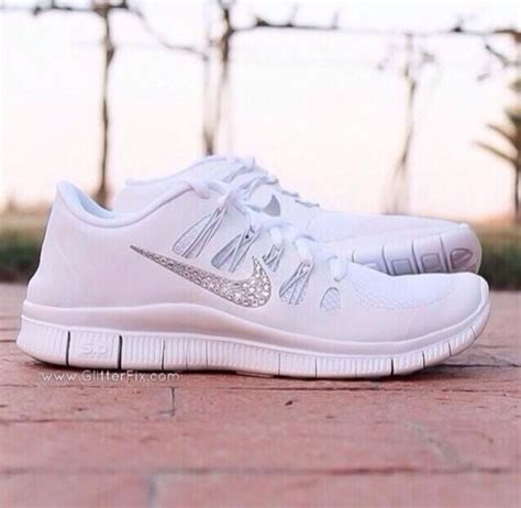 shoes white nike running shoes nike free run sparkle