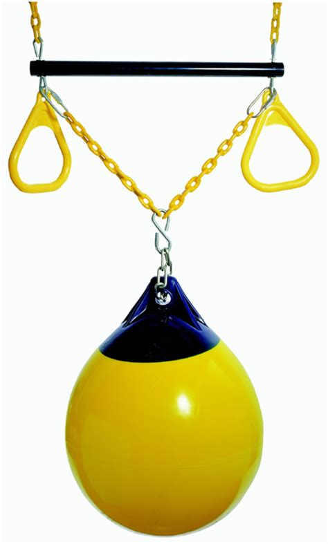 buoy ball swing trapeze buoy ball add on swing set playground toy kid