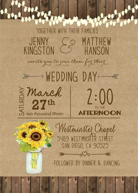 Unique Wedding Invitations by Unique Wedding Invitations A Great Fit For Any Outdoor