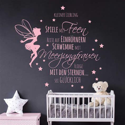 Wandtattoo Kinderzimmer Fee by Wandtattoo Zitat Spruch Kleiner Liebling Mit Fee Und