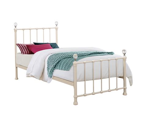 girls bed frames jasmine girls cream metal bed