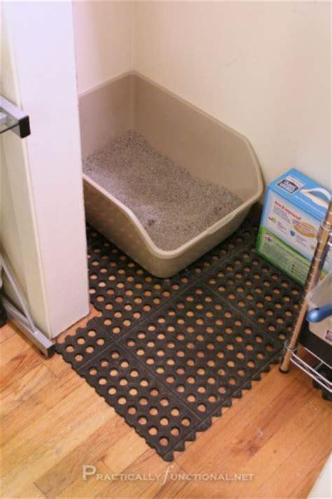 How To Keep Cat Litter The Floor keeping the litter box area clean litter box garage