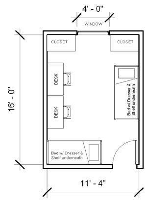 room measurments presidents layout