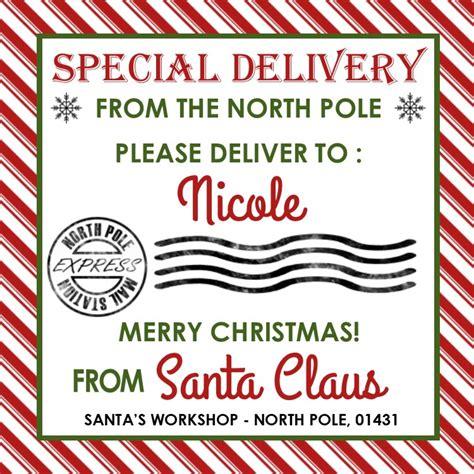 printable gift label from santa santa gift tags personalized santa tags gift tags from