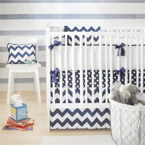 Blue Chevron Nursery Bedding Contemporary Nursery