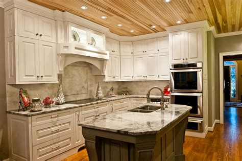 Kitchen Countertop And Backsplash Ideas by Natural Wood Ceiling Planks Homesfeed