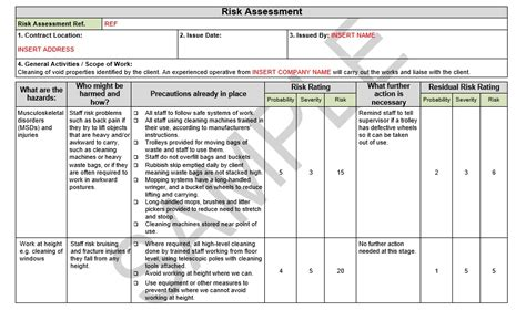 risk assessment method statement for general scaffolding