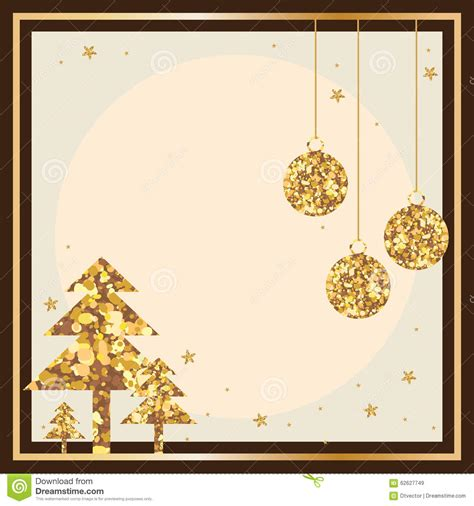 card photo frame template golden glitter card frame stock vector image