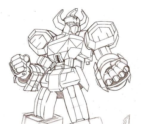 Megazord By Trevor Hobostein On Deviantart Megazord Coloring Pages