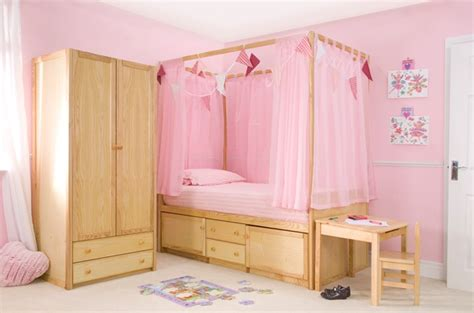 childrens beds kids wooden four poster bed cbc