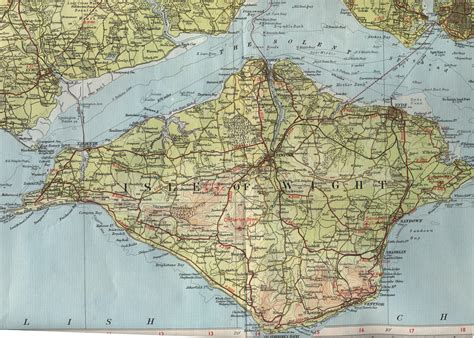 image gallery isle of wight map
