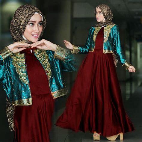 Gamis Cardi Dian Black Birugamisdressbaju Muslim baju pesta a215c satin payet busana muslim dian pelangi