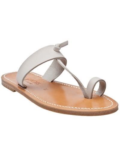A C C E P T Falihah Sandal t toe sandal in white from k jacques this leather