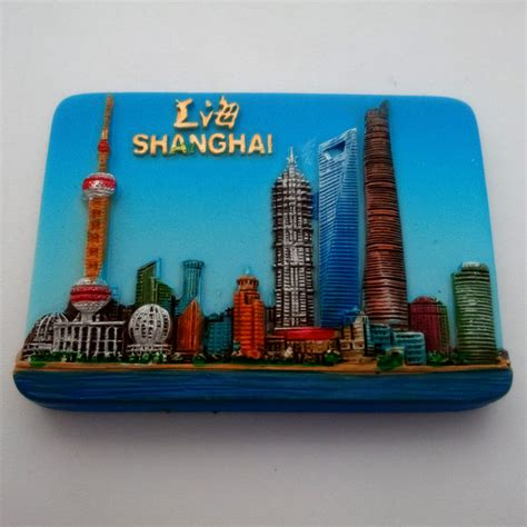 Souvenir Tempelan Magnet Shanghai Impression 3d fashion china shanghai pearl radio tv tower