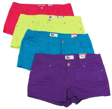 colored denim shorts so juniors colored denim shorts new ebay