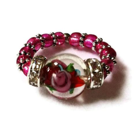 Handmade Beaded Rings - 1000 images about handmade beaded rings on
