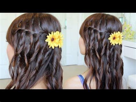 youtube tutorial waterfall braid waterfall braid hairstyle on yourself hair tutorial