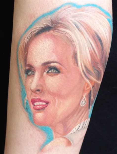 gillian anderson tattoo gillian and piper