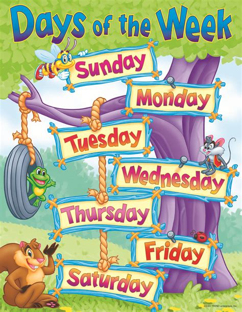 the week days of the week poster pictures to pin on
