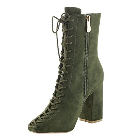 color booties olive green booties