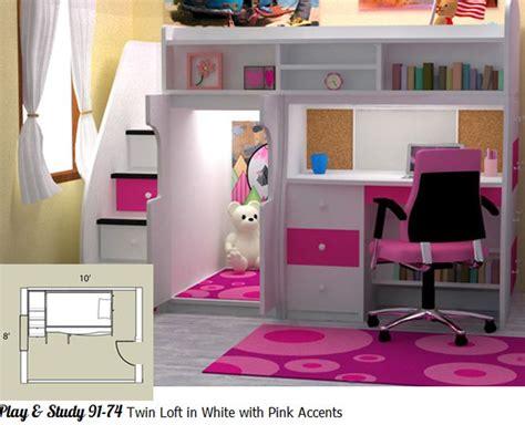 bunk beds for girls with desk 110 best room images on pinterest