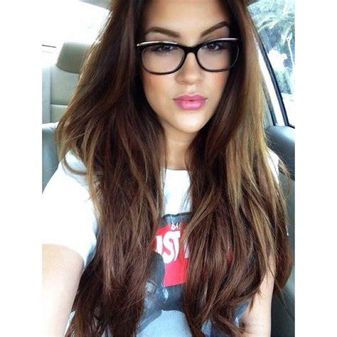 bellami hair models nicole guerriero glasses pinterest chocolate brown