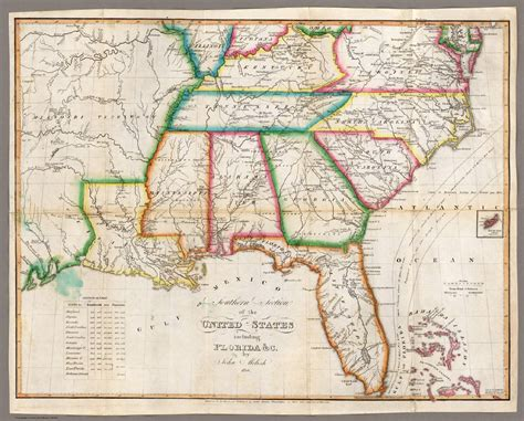 map of the southern usa map us southern states