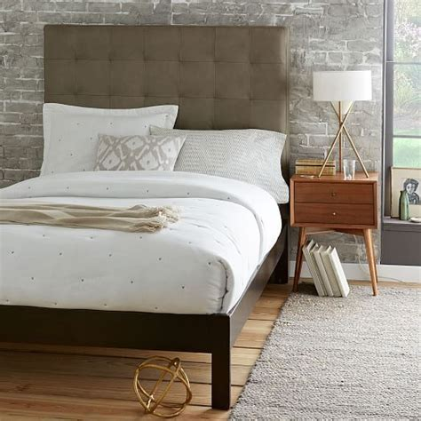 west elm headboards tall leather grid tufted headboard west elm