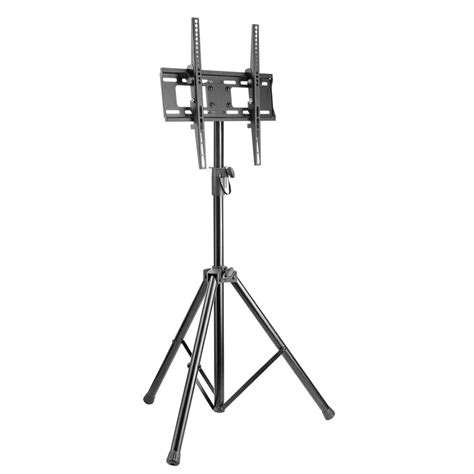 adjustable height floor l tripod tv floor stand fits 32 quot 55 quot tvs height adjustable