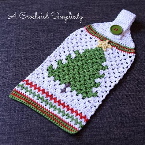 best freecrochets christmas free crochet pattern retro tree towel a crocheted simplicity