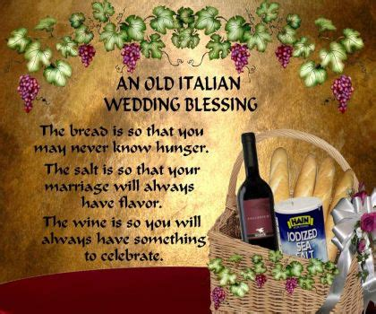 Wedding Blessing In Italian by Italian Wedding Blessing Quotes Quotesgram