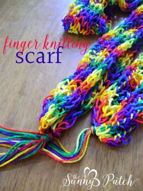 finger knit projects finger knitting beginner projects the whoot