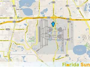 Orlando Airport Map by International Airports Orlando International Airport