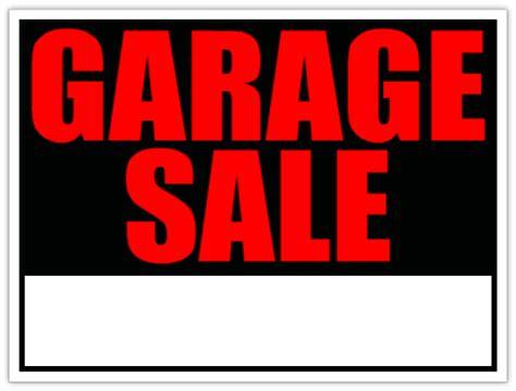 garage sale sign template generic garage sale sign yard sale signs
