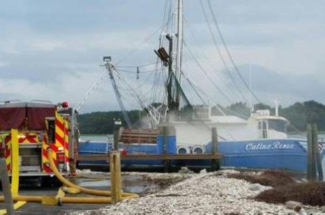 shrimp boat hilton head hilton head island shrimp boat catches fire
