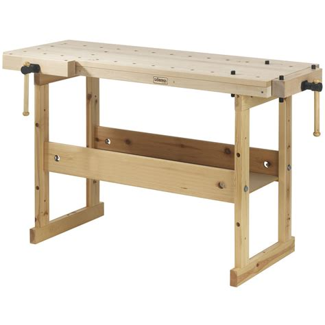 workers bench garage workshop woodworking top wood work bench birch tool