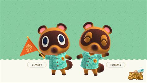 animal crossing  horizons timmy  tommy wallpaper