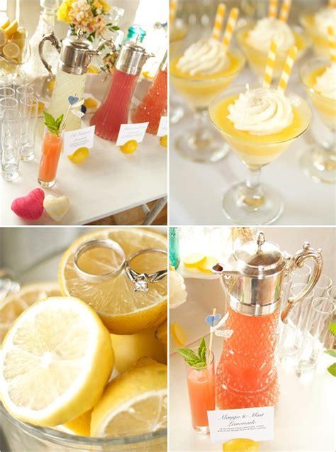 summer party ideas citrus themed shabby chic wedding ideas