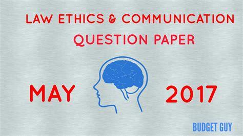 paper pattern law ipcc ipce ipcc may 2017 business law ethics communication